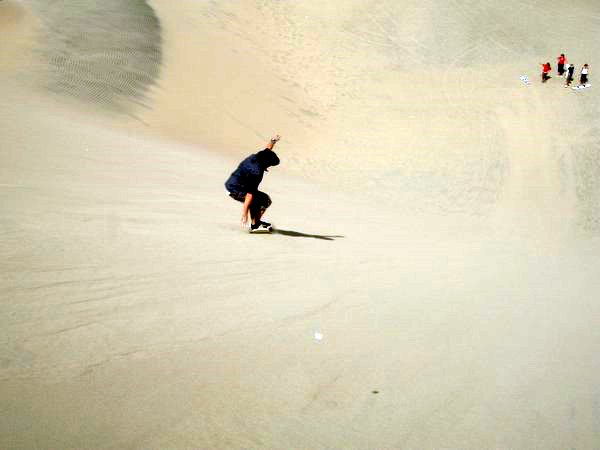 Sand Boarding down a 40m slope