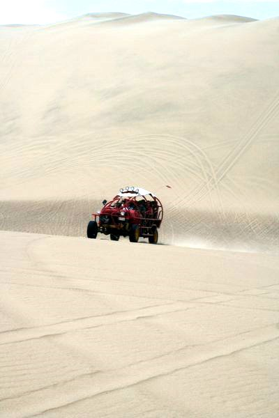 Going very fast down a dune