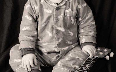 Jude with a ukulele